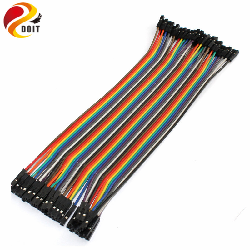 40pcs Dupont Cable Jumper Wire Dupont Line Female To Female Dupont Line 20cm 1P-1P For Arduino