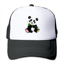 Dutrodu para hombres mujeres gorras de beisbol meshback Panda comer bambú  hat gorras hip hop sombrero 44cf772d4af