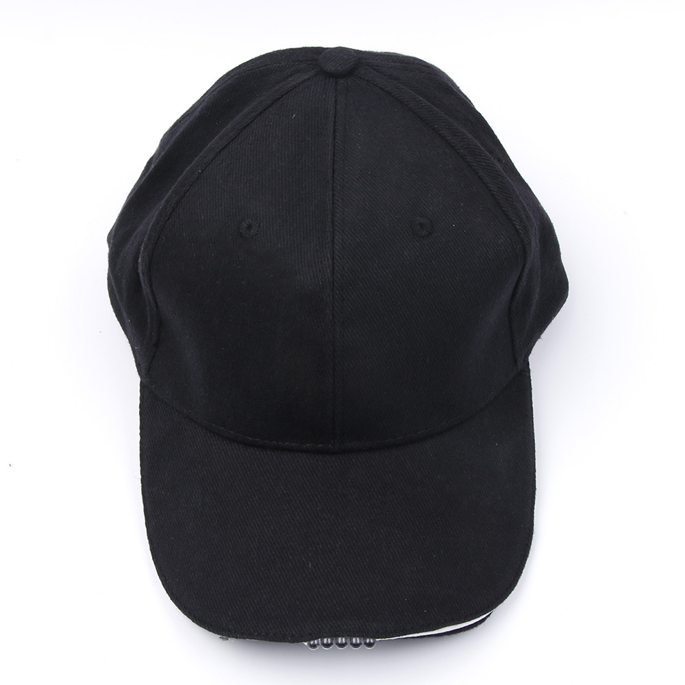 Outdoor Unisex 5 Lighted Cap Black Novelty FastenerTape Baseball Hat - Kläder tillbehör - Foto 2
