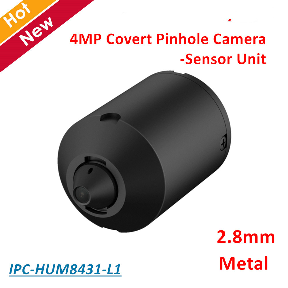 DH IPC-HUM8431-L1 4MP Covert Network Camera Sensor Unit 2.8mm Fixed Pinhole Lens Day/Night WDR IP Camera Metal case 4mp poe dahua covert pinhole camera main unit ipc hum8431 e1 h 265 support smart detection and sd card metal case