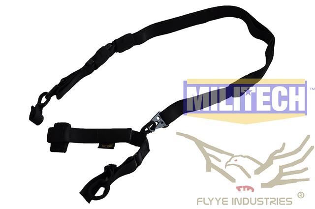 Especificación militar FLYYE Tactical Rifle Negro Tres Puntos Sling FY-SL-S003 Triple Puntos Sling