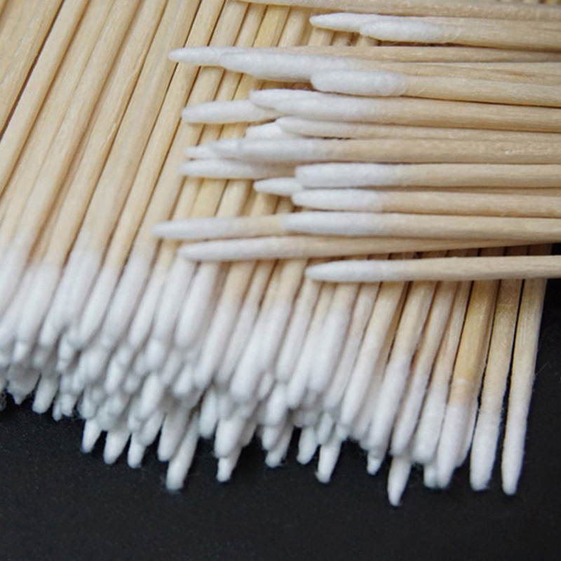 300pcs Cotton Buds Swabs 7cm Long Wooden Handle Tattoo Makeup Microblade Cotton Swab Sticks Makeup Cotton Swabs