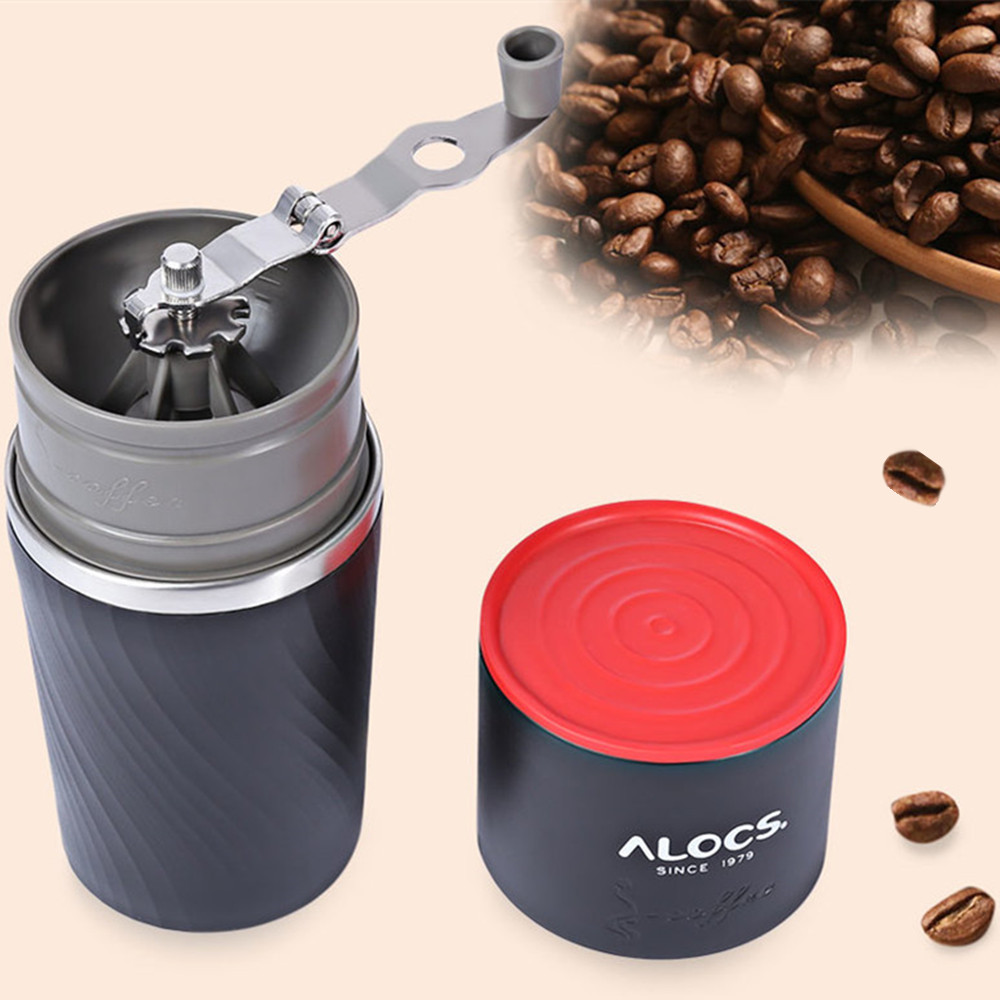 ALOCS CW-K16 Outdoor Tableware Portable Coffee Maker 4 in 1 Stainless Steel Camping Manual Easy Coffee Grinder Camping Tableware floral printed home decoration waterproof fabric table cloth