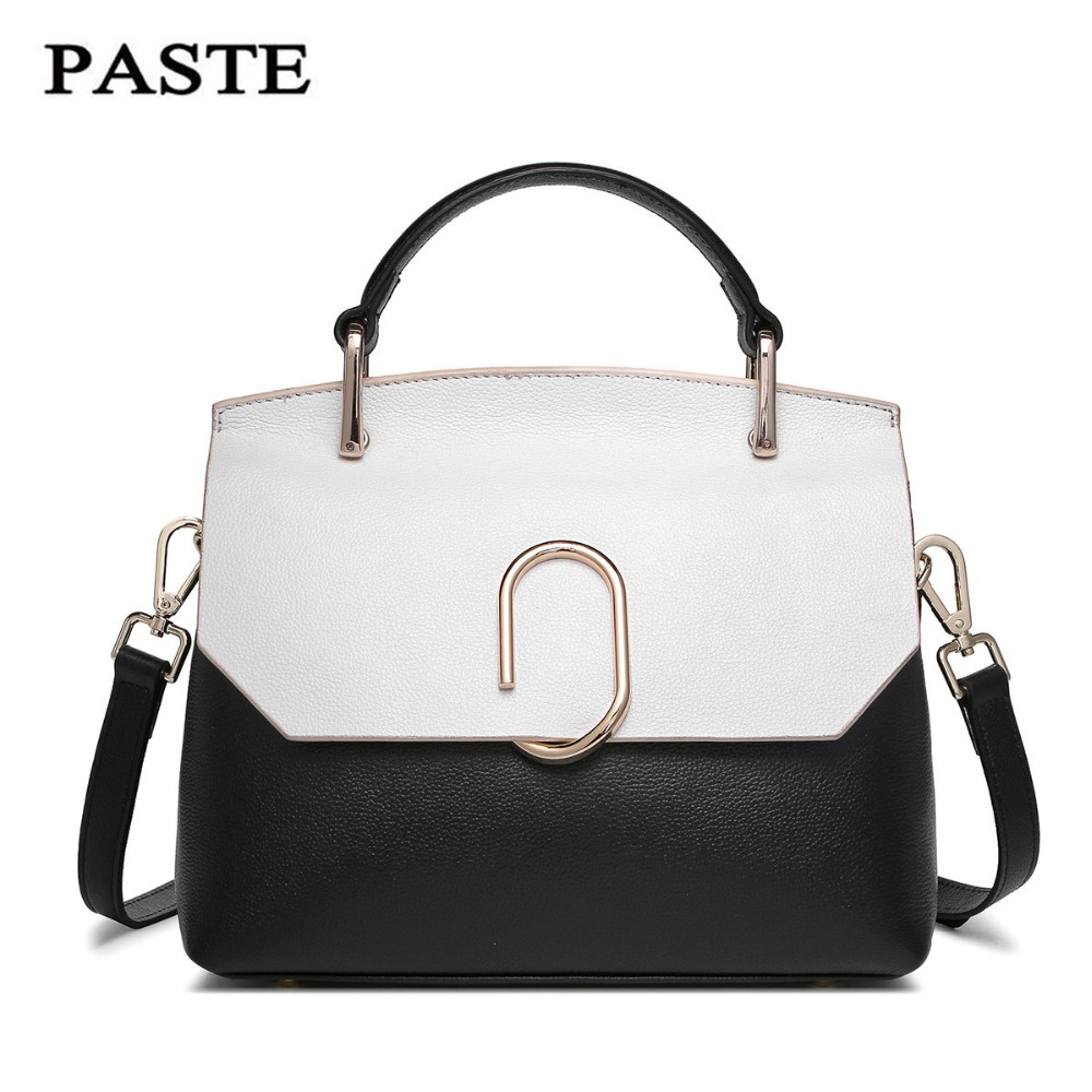 PASTE Genuine Leather brand limited edition Women Clutch Bags Fashion Envelope Shoulder Ladies Messenger Handbag Female Gift paste genuine leather brand women clutch bags fashion crocodile pattern envelope shoulder ladies messenger handbag female gift