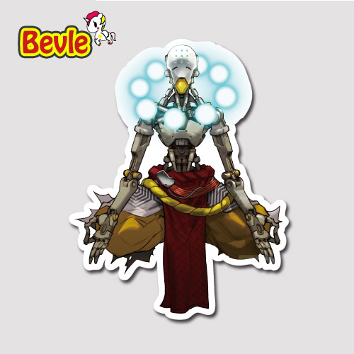 Bevle 9124 OW Shooting Game Zenyatta Sticker Notebook Waterproof Tide 3M Sticker Skateboard Car Graffiti DIY