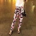12 Tipos Más El Tamaño S-3XL 2016 Verano Pantalones Ocasionales Flojas Mujeres Camuflaje Pantalones Harén Cintura Alta Mujeres Pantalones Pantalon Femme