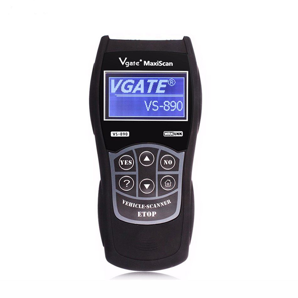 VS890 Automotive Scanner OBD2 Scanner Code Reader Universal Multi-language Car Diagnostic Tool VS 890 u280 1 5 lcd vw audi car diagnostic code reader memo scanner