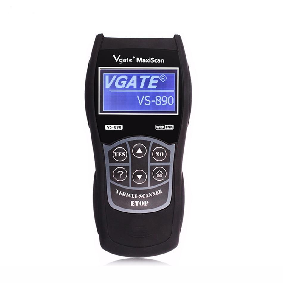 VS890 Automotive Scanner OBD2 Scanner Code Reader Universal Multi-language Car Diagnostic Tool VS 890 2016 new arrival vs 890 obd2 car scanner scantool obdii code reader tester diagnostic tools 3 inch lcd car detector
