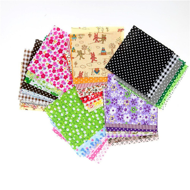 Floral Cotton Fabric Patchwork Cloth DIY Sewing Quilting Tissue Cloth for Clothes Bags Toys 10x10 cm Apparel Sewing Fabric 1