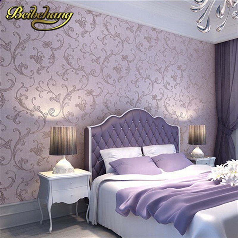 beibehang Classic European Romantic Style Wall Paper Non-woven Wallpaper Living Room/ Tv Sofa Background 3d Papel De Parede Roll beibehang papel de parede 3d non woven wall paper roll embossed idyllic romantic bedroom living room tv background wallpaper