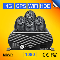 4pcs 2 0mp Ahd Indoor Camera 4ch 1080 Hdd Hard Disk 4g Gps Wifi Video Recorder
