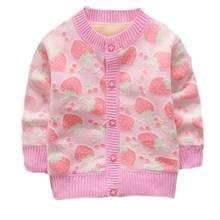 Baby Jacket Girls Boys Cartoon Velvet Knitted Cardigan Outerwear Jacket Kids Long Sleeve Jackets Coats Tops Jacket For Girl недорого