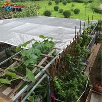 Tewango Outdoor 99% UV Sun Screen Plants Shelter Aluminum Foil Shade Sail Sun Screen Silver Balcony Cover Garden Flower Protect