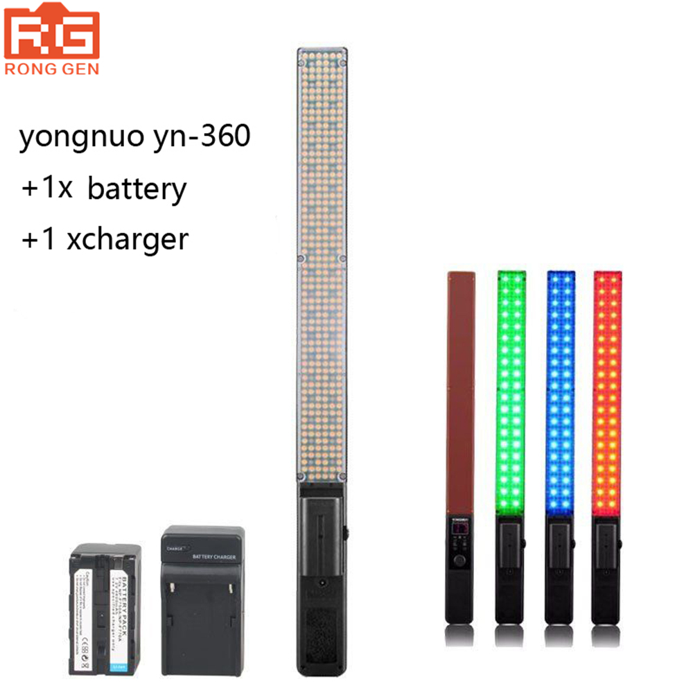 New YONGNUO YN360 Handheld LED Video Light Photography lights 3200k 5500k RGB Colorful + BATTERY SUITNew YONGNUO YN360 Handheld LED Video Light Photography lights 3200k 5500k RGB Colorful + BATTERY SUIT