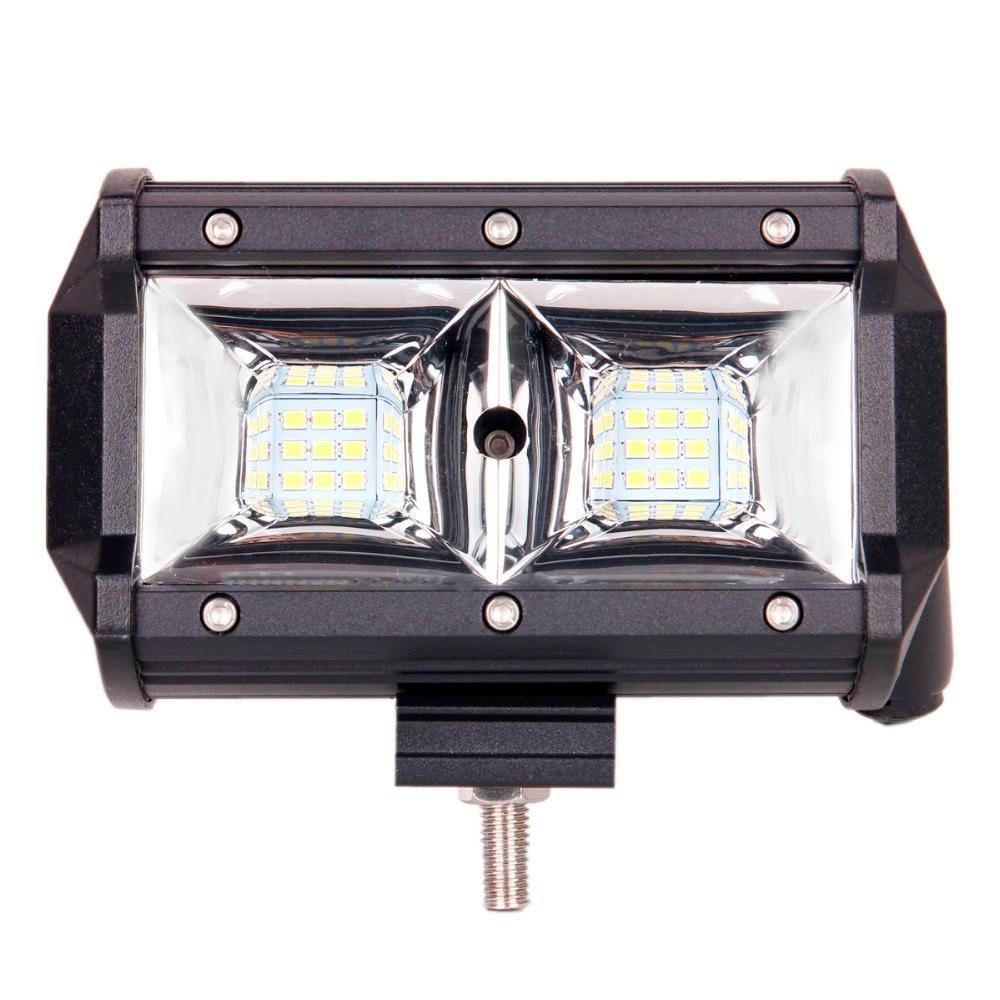 ECAHAYAKU 1x NEW 5 INCH LED WORK LIGHT BAR flood lamp 54W HEADLIGHT 12V 24V CAR TRAILER WAGON PICKUP BOAT 4X4 4WD MOTOR OFF ROAD