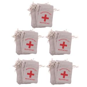Image 3 - 50 복구 숙취 키트 가방 암탉 파티 응급 처치 가방 모슬린 호의 가방 13x9 cm
