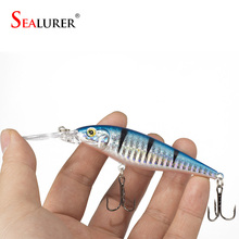1PCS Super Quality  5 Colors 11cm 10.5g Hard Bait Minnow Fishing lures Bass Fresh Salt water 4#hook