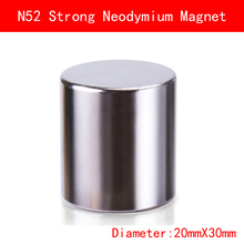 1pcs Diameter 20x30mm N52 neodymium magnet DISC strong rare earth magnets 20mmx30mm NdFeB permanent round magnetic
