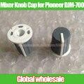 2 pcs cap botão misturador para pioneer djm-700/half-eixo cap botão potenciômetro 90 graus de cinza