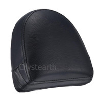 Black Motorcycle Rear Passenger Sissy Bar Backrest Cushion Pad For Harley Chopper VRSC V Rod VRod