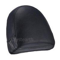 Black Motorcycle Rear Passenger Sissy Bar Backrest Cushion Pad For Harley Chopper VRSC V Rod VRod