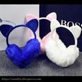 Женщина уши Теплые наушники Серьги Уха Обертывание мода Earmuff Теплый Теплый для Зимних Эрл Мультфильм твердые мода секс cat стиль