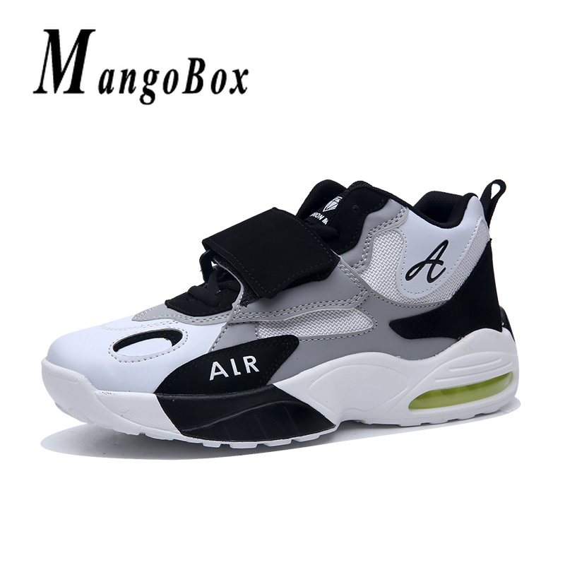 Basketball Men Shoes Red Black Training Shoes Boy Air Cushion Design Boys High Top Basketball Sneakers Damping Outdoor Boys Shoe cross training shoe