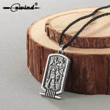 Cxwind Ancient Egypt Men's Ankh Cross of Life Anubis Necklace Amulet Religious Pendant Vintage Bronze Rope Chain Jewelry(China)