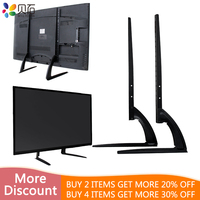 Universal Table Top TV Stand Height Adjustment TV Desk Stand Base for Most 32 65inch LCD Flat Screen TV VESA up to 800*600mm