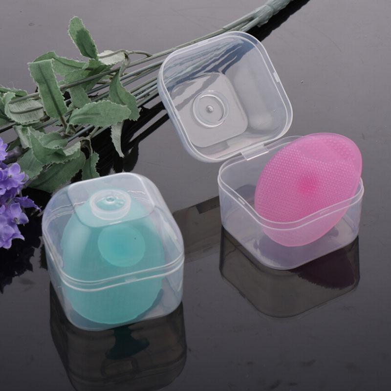 1 StÜck Baby Bad Pinsel Oval Mitesser Entferner Gesichtsreinigung Pad Baby Kopf Waschen Mit Box Silikon Hautpflege Schönheit GroßE Auswahl;