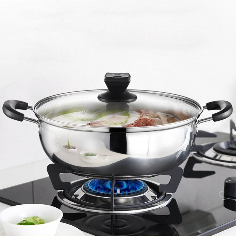 26cm/28cm Stewpot Thickened <font><b>Stainless</b></font> <f