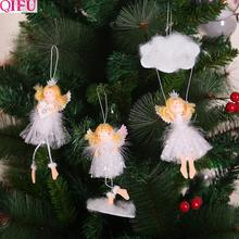Merry Christmas Ornaments Angel Elf White Decorations For Tree Toy Xmas Decor Swiateczne New Year 2020 Natal