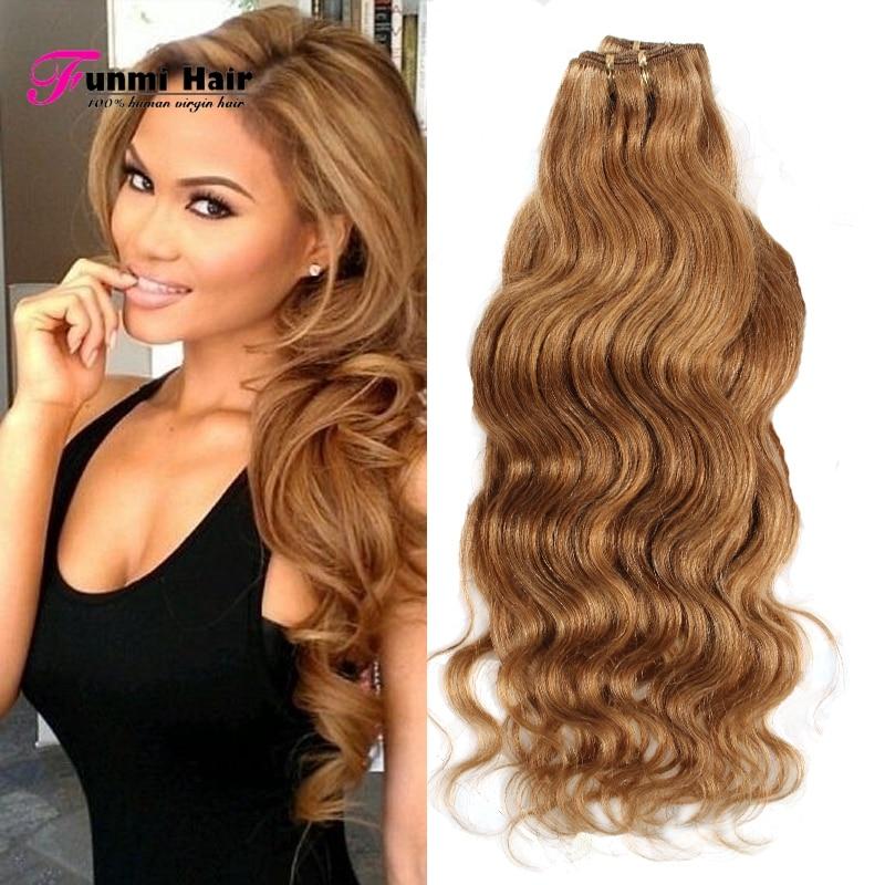 Grade 5a Queen Hair 4 Bundle Deals Dark Honey Blonde Hair Extensions