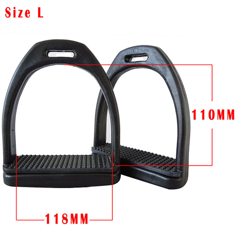 High-strength Plastic Stirrups Horse Riding Equipment Black Wear Resistant Equestrian Accessories For Horse