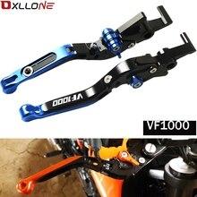 Akcesoria motocyklowe regulowane dźwignie sprzęgła/hamulca do hondy VF1000 1997 1998 1999 2000 2001 2002 2003 2004 z VF1000 LOGO
