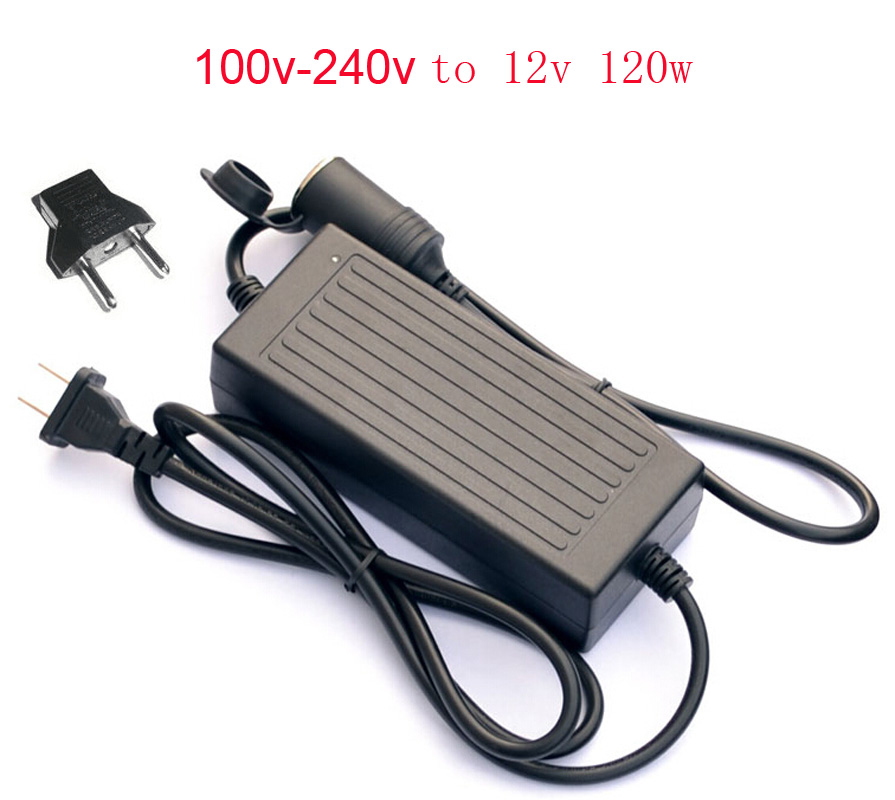120W AC 100V - 240V to DC 12 V Car Cigarette Lighter AC to DC Adapter Converter Transformer DC Power Converter for Car ac dc ac dc for those about to rock we salute you lp