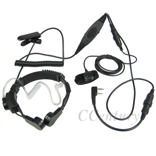 Fbi Vox Military Tactical Throat Mic Headset For Baofeng Portable Cb