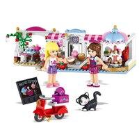 491pcs Friends Building Blocks Heartlake Cupcake Cafe City Bricks Educational Toys For Legoings Girls Christmas Gifts