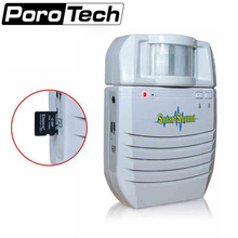S-V1 Battery Powered Wireless Infrared Motion Detector MP3 Audio Player Home Security Alarm Support Memory Extension