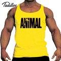 Hombres Tank Top de Algodón Diseñado hombres Tank Top Fitness Stringer Chaleco Casual de las camisetas Sin Mangas de Las Camisetas Hombre Camisetas de La Moda