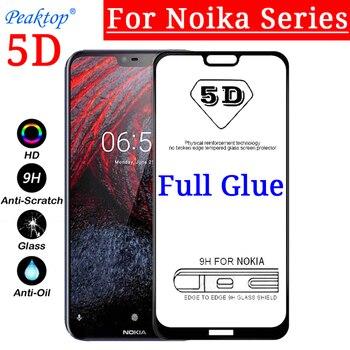 Перейти на Алиэкспресс и купить 2 шт закаленное стекло для Nokia 9 7,1 6,1 8,1 X7 X6 X5 3,1 5,1 для Nokia 7 Plus 8 3 6 5 2018 5D 9D Полный Клей протектор экрана