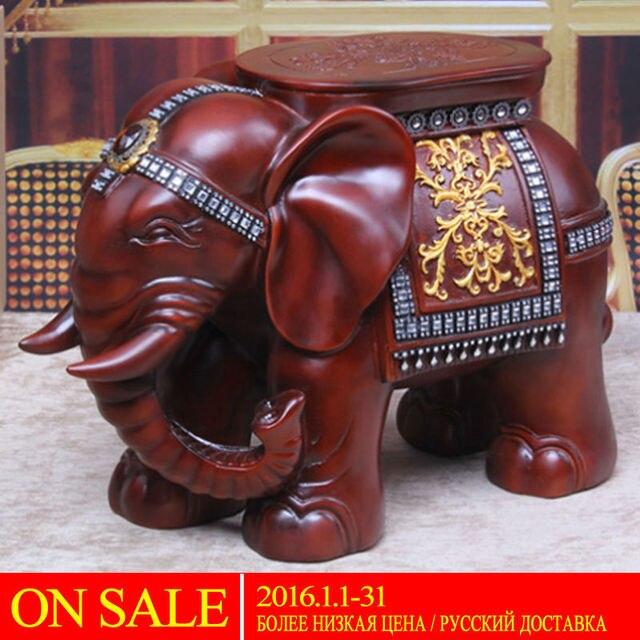 Ru doméstica entrega elefante forma otomano sofá taburete taburete ...