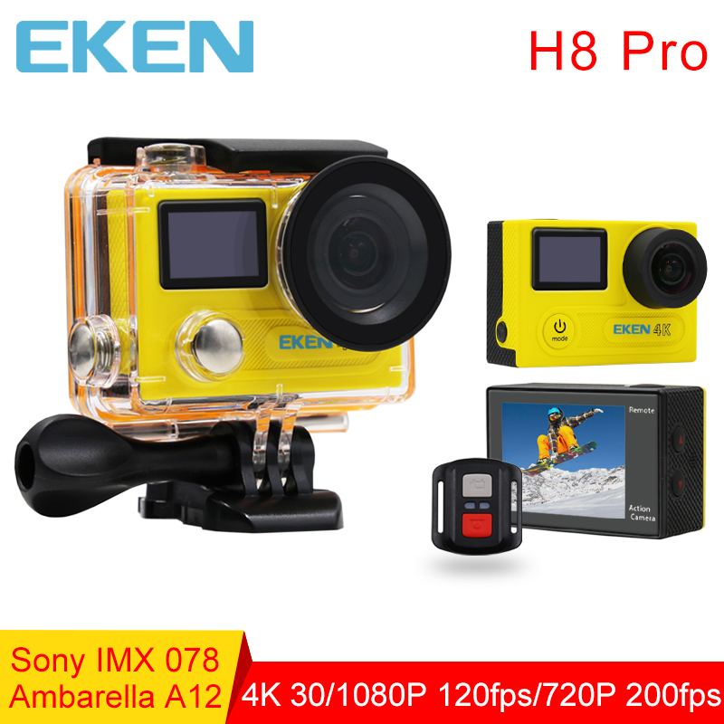 Original EKEN H8Pro Action Camera Ambarella A12 4K/30fps 1080P/120fps Dual LCD Mini Cam Go Waterproof Pro  Sports Camera yi 2