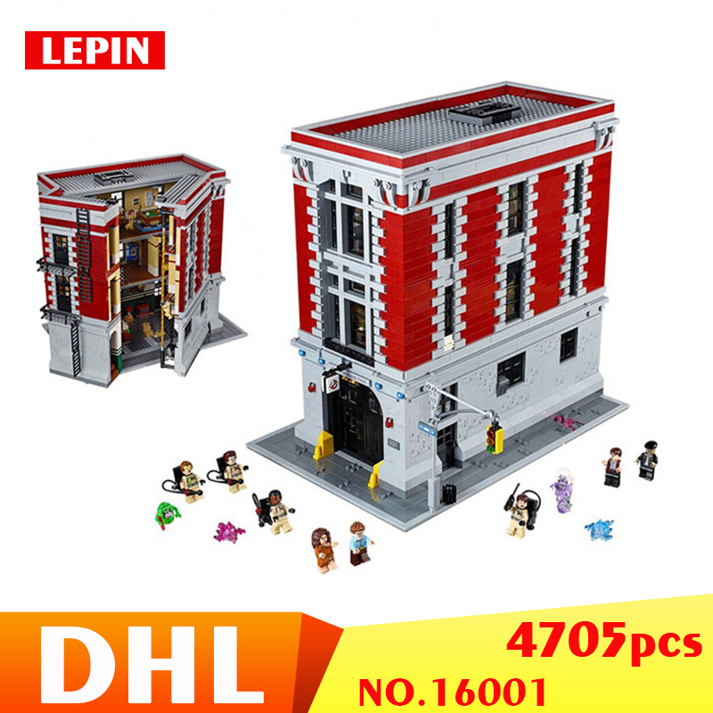 LEPIN 16001 4705Pcs Ghostbusters Firehouse Headquarters brinquedos Model set Building Kits Model Compatible 75827 цены