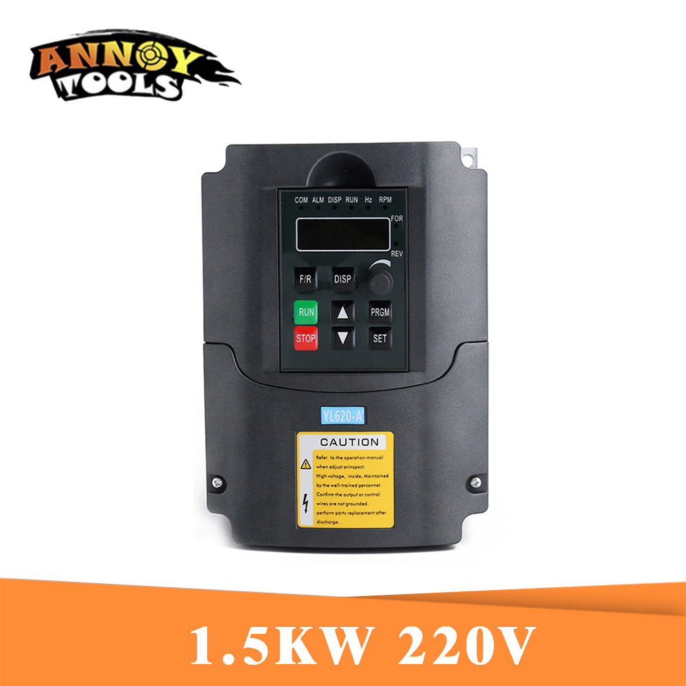 1.5KW 2.2KW Inverter CNC Spindle Motor Speed Control 220V 1.5KW 2.2KW 1Phase Input 3phase Output Frequency Inverter For Motor