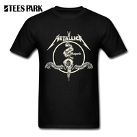 Cool Tees Tops Metallica Hard Metal Rock Band Adult Round Neck Short Sleeved Clothing New Men