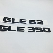 Matt Black GLE 63 GLE 350 Rear Trunk Lid Emblem Number Letters Sticker for Mercedes Benz AMG W166 4 Matic GLE63 GLE350(China)