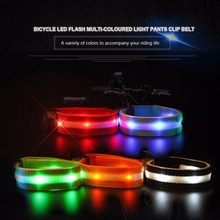 1pc Arm Belt Bike LED Armband LED Safety Sports Reflective Belt Strap Snap Wrap Arm Band Cycling Warning Pant Band Leg Strap(China)