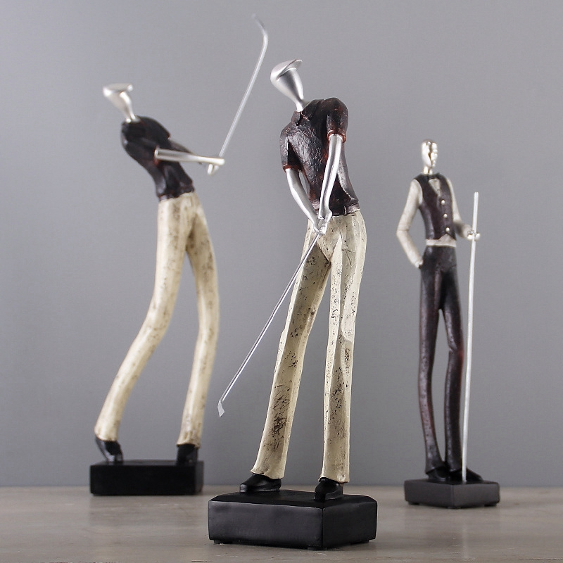Simple Modern Golf Character Ornaments Creative Home Decoration Crafts Living Room TV Cabinet Golf Man Figurine ManualidadesSimple Modern Golf Character Ornaments Creative Home Decoration Crafts Living Room TV Cabinet Golf Man Figurine Manualidades