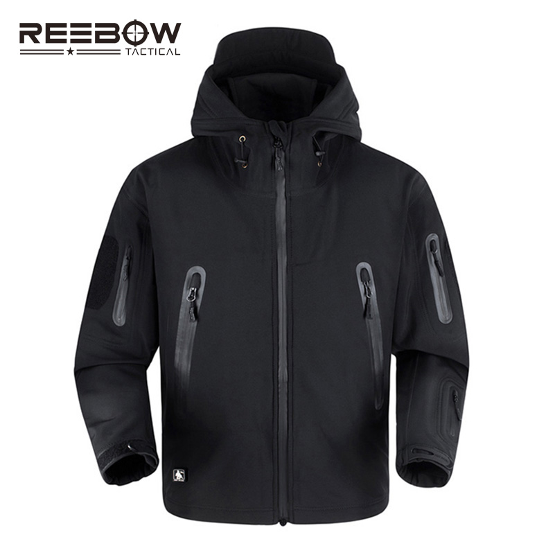 REEBOW TACTICAL Upgraded TD V5 0 Outdoor Sports Fleece Jacket Men Winter Military Thermal Waterproof Soft